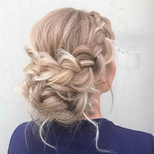 braid chignon blonde hairstyles