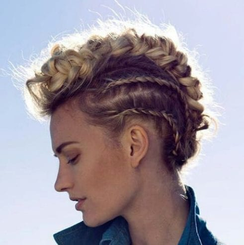 braid fauhawk blonde hairstyles