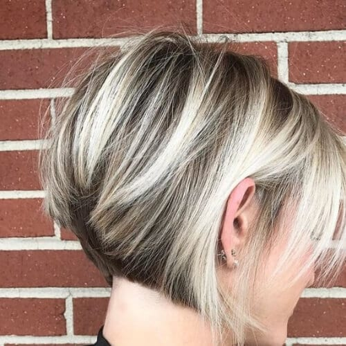 day and night short hair with highlights