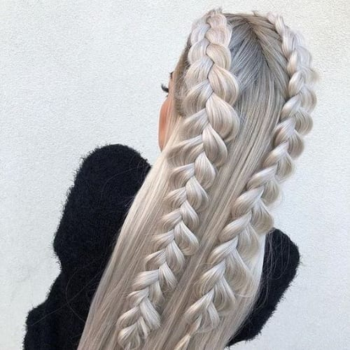 double french blonde hairstyles