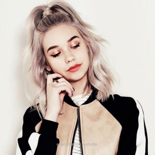 dusty lilac cool hairstyles for girls