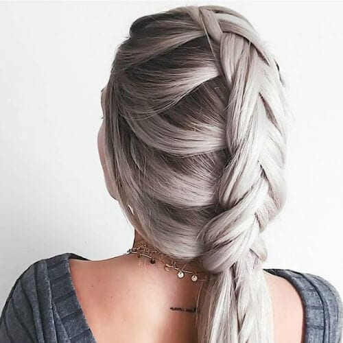 fishtail and two strand braid hairstyles for long hair