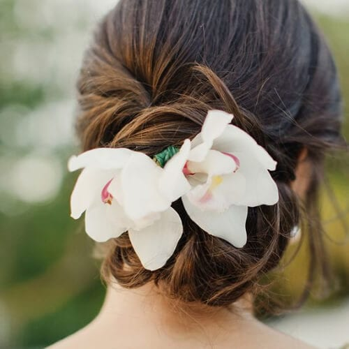 floral cool hairstyles for girls