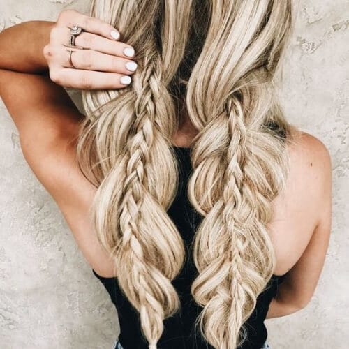 french and three strand braid hairstyles for long hair