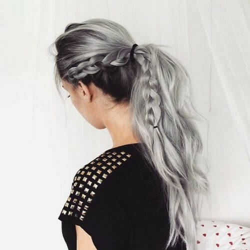 gray braid hairstyles for long hair
