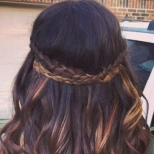 highlights braid hairstyles for long hair