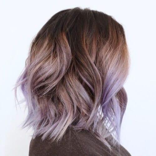 iris short hair with highlights