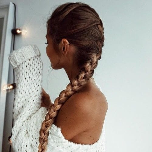 long ang thin braid hairstyles for long hair