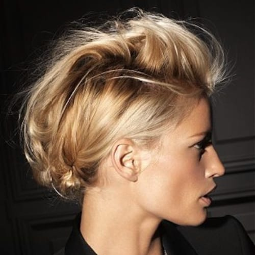 messy fauxhawk blonde hairstyles