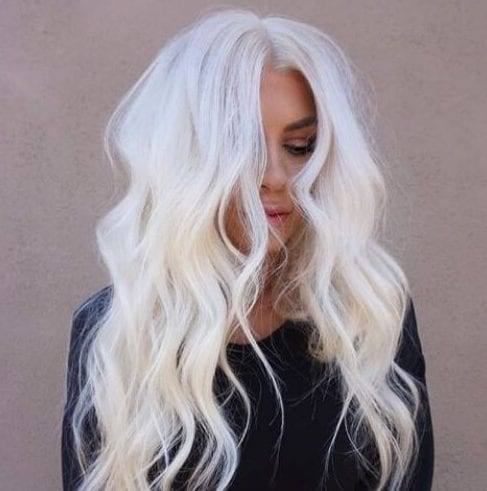 milk white blonde hairstyles