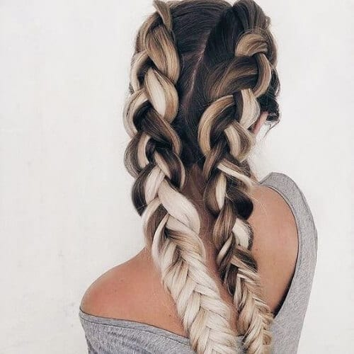 millk and coffee braid hairstyles for long hair