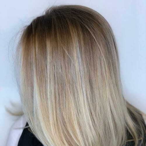 noisette blonde low highlights and lowlights