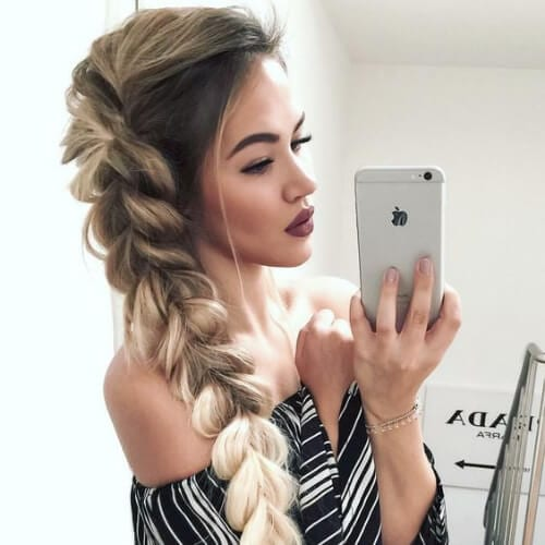 ombre dutch braid hairstyles for long hair
