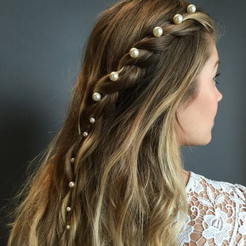 pearl pins blonde hairstyles