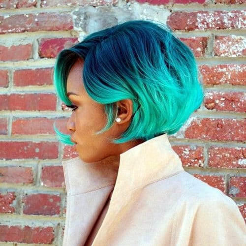sea colors short hair with highlights