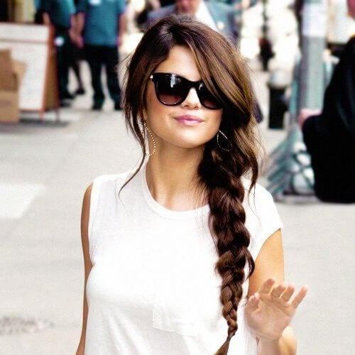 selena gomez braid hairstyles long hair