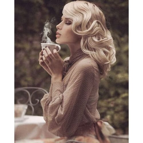 vintage curls blonde hairstyles