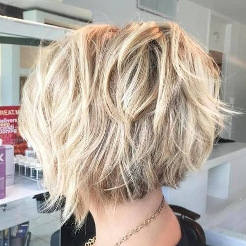 Blonde Layered Bob haircuts for thick hair