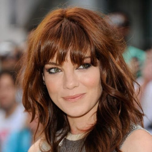 Michelle Monaghan chestnut hair color