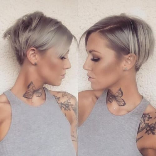 Soft Pixie Bobshort haircuts for fine hair