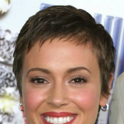 alyssa milano short haircuts for fine hair