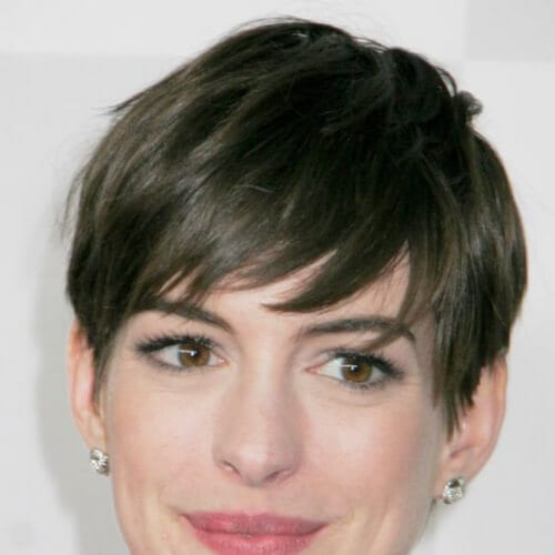 anne hathaway short haircuts for fine hair