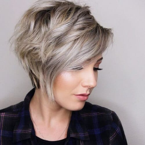 asymmetrical pixie haircuts for thick hair
