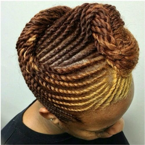 blonde caramel brown flat twist