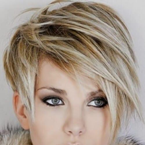 blonde pixie cut short haircuts for fine hair