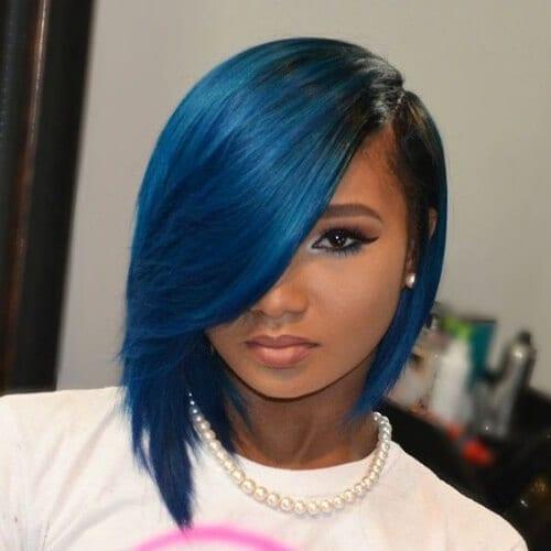 blue haircuts for thick hair