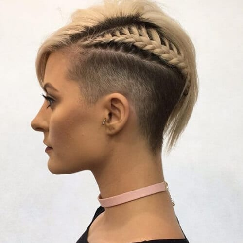 braided short haircuts for fine hair