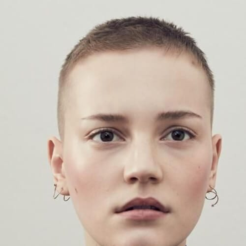 buzz cut short haircuts for fine hair