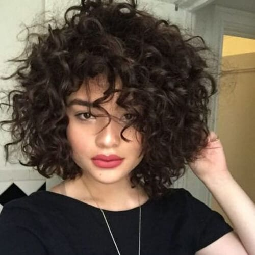 curly bob haircuts for thick hair