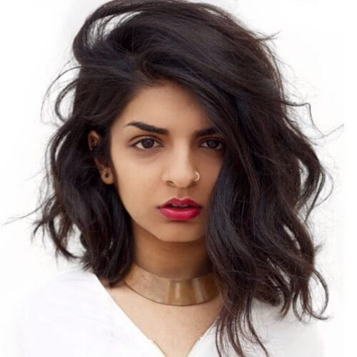 deep side part haircuts for thick hair
