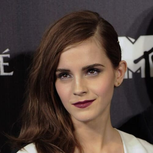 emma watson chestnut hair color