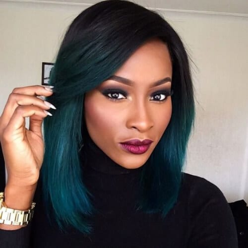 green haircuts for thick hair