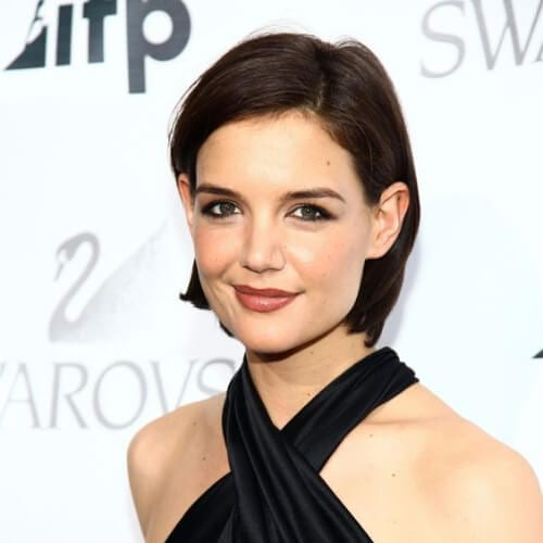 katie holmes haircuts for thick hair