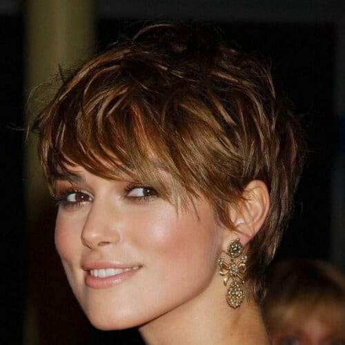 keira knightley short haircuts for fine hair