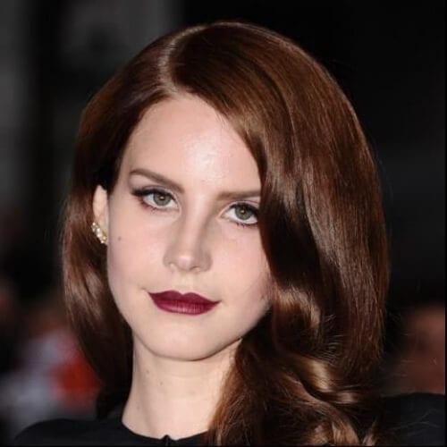 lana del rey chestnut hair color