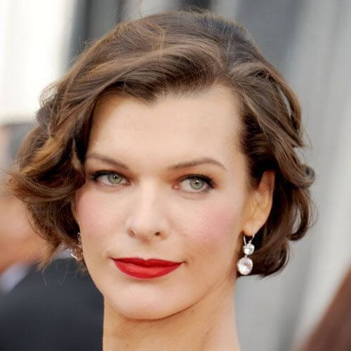mila jovovich haircuts for thick hair