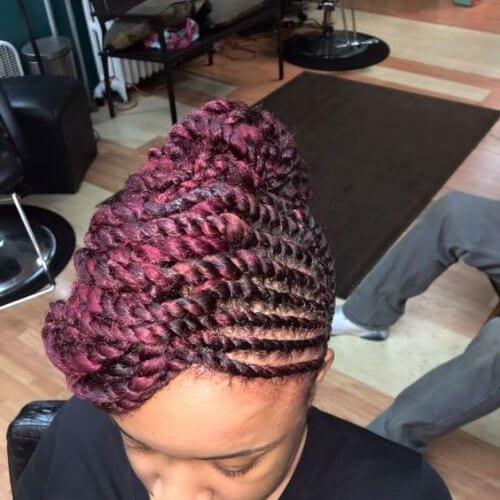 pink flat twist