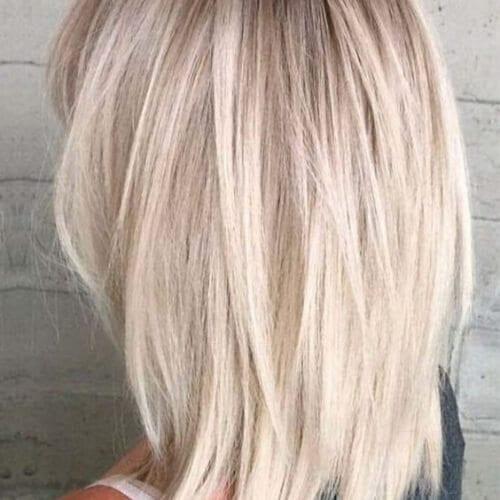 sleek straight haircuts for thick hair