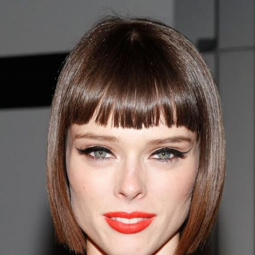 straight bob short haircuts for fine hair