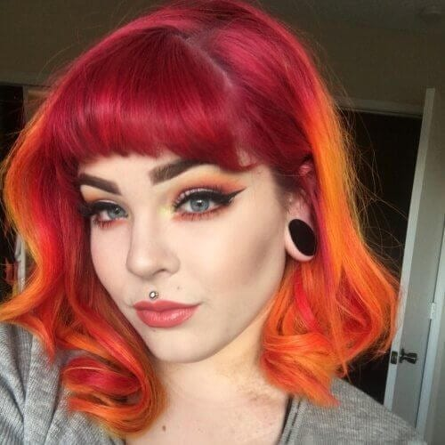sunset haircuts for thick hair