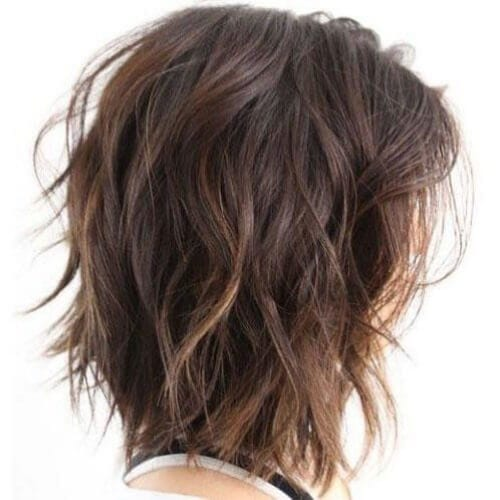 textured layers haircuts for thick hair