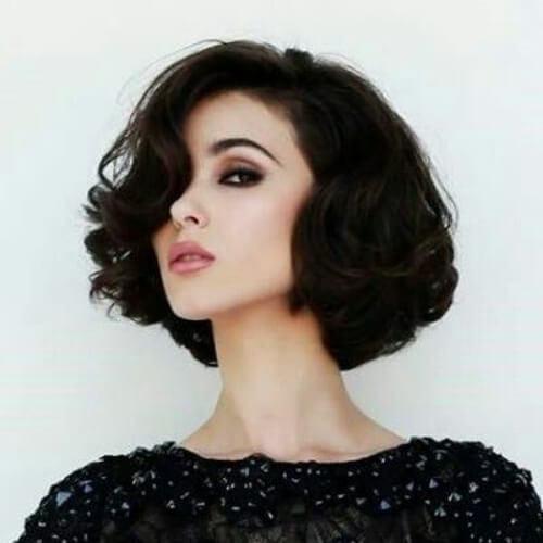 vinage curly bob haircuts for thick hair