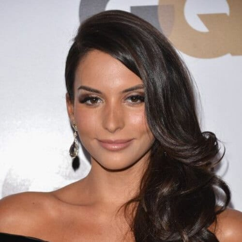 Genesis Rodriguez side hairstyles for prom