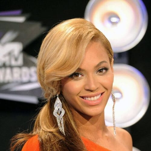 beyonce side hairstyles for prom