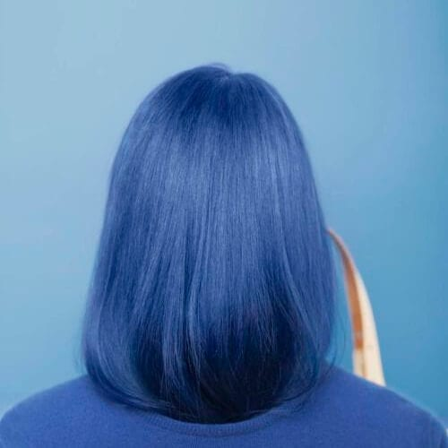 blue short haircuts for straight hair