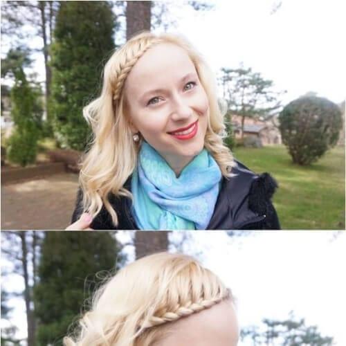 casual braided bang hairstyles